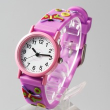 Cheap plastic Child watch of 3D colorful straps with different kids cartoon pitures