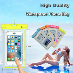 Clear ultra slim underwater luminous cell phone pouch waterproof for smartphone below 6 inch