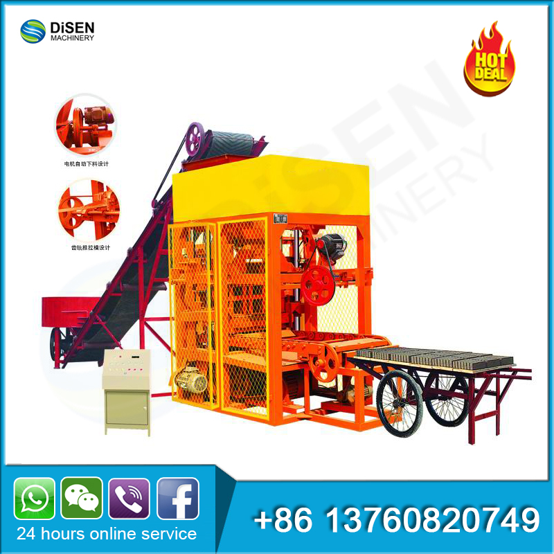 Semi automatic soil cement mud fly ash interlocking clay cement red brick making machine price