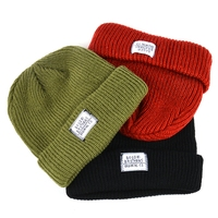 Factory custom design private label winter cap beanie chunky knitted hat