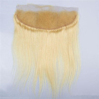 raw European hair full cuticle aligned human hair lace frontal in stock lower price blonde color lace frontal stocked