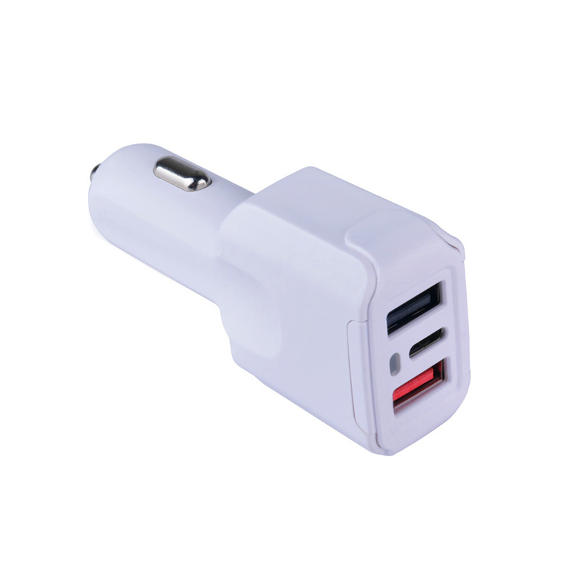 Smart and powerful quick charging 3 usb car charger , type-C port car charger