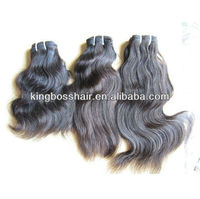 "aaa grade Raw Virgin Indian sassy Remy Human Hair Extensions Weave/Weft Natural Wave 12"" 1B SALE"