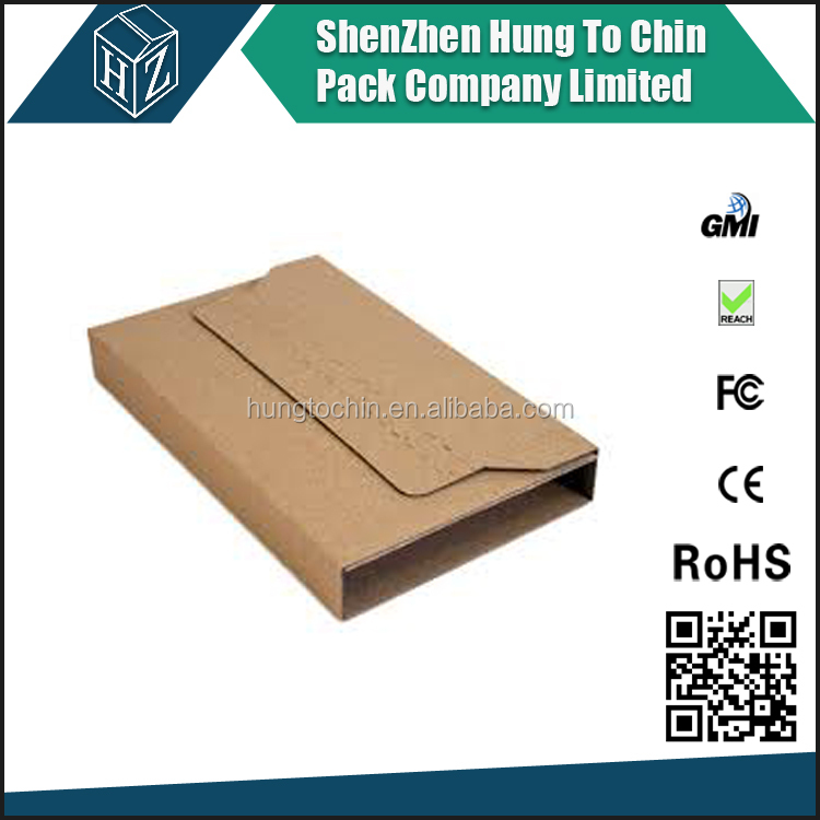 Kraft 2mm thickness corrugated cardboard book sleeve