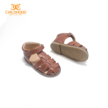 Brown Leather Sandals for 2 to 7 Years Kids Sandals