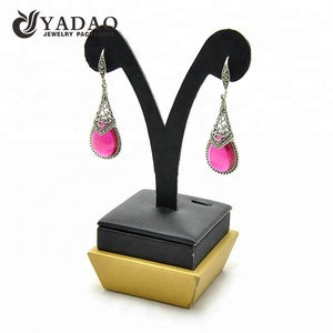 Leather free logo design jewelry earring display stand
