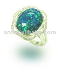 Silver Ring with Opal stone wholesale ring 925 jewelry in Thailand