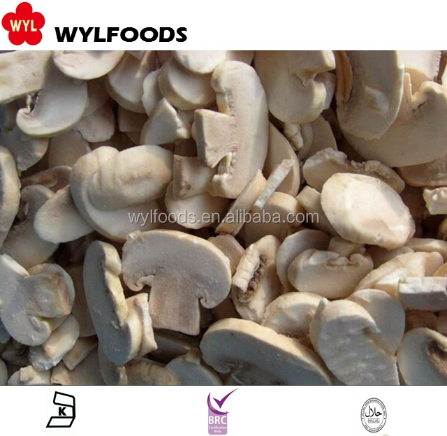 High Quality IQF Frozen Sliced Champignons/ white mushroom
