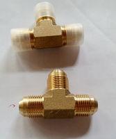 Brass 37 JIC Male Pipe Swivel 90deg tee