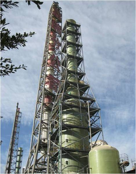 FRP Waste Gas Purification Tower/ Gas Scrubbers/gas absorption column for chemical industry