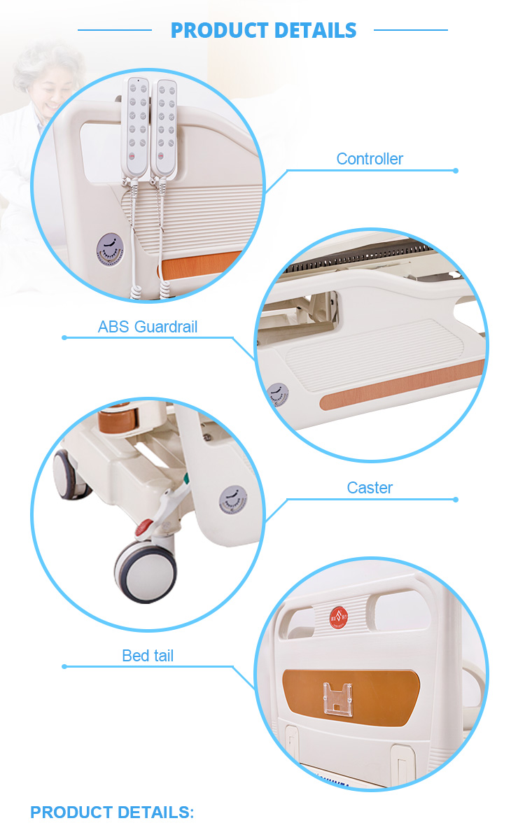 New Arrival Five Function Manual/Electric Hospital Lateral Tilting Bed