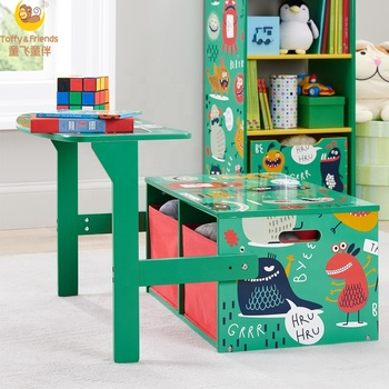 Toffy Friends Monsters 3 In 1 Convertible Kids Desk Storage