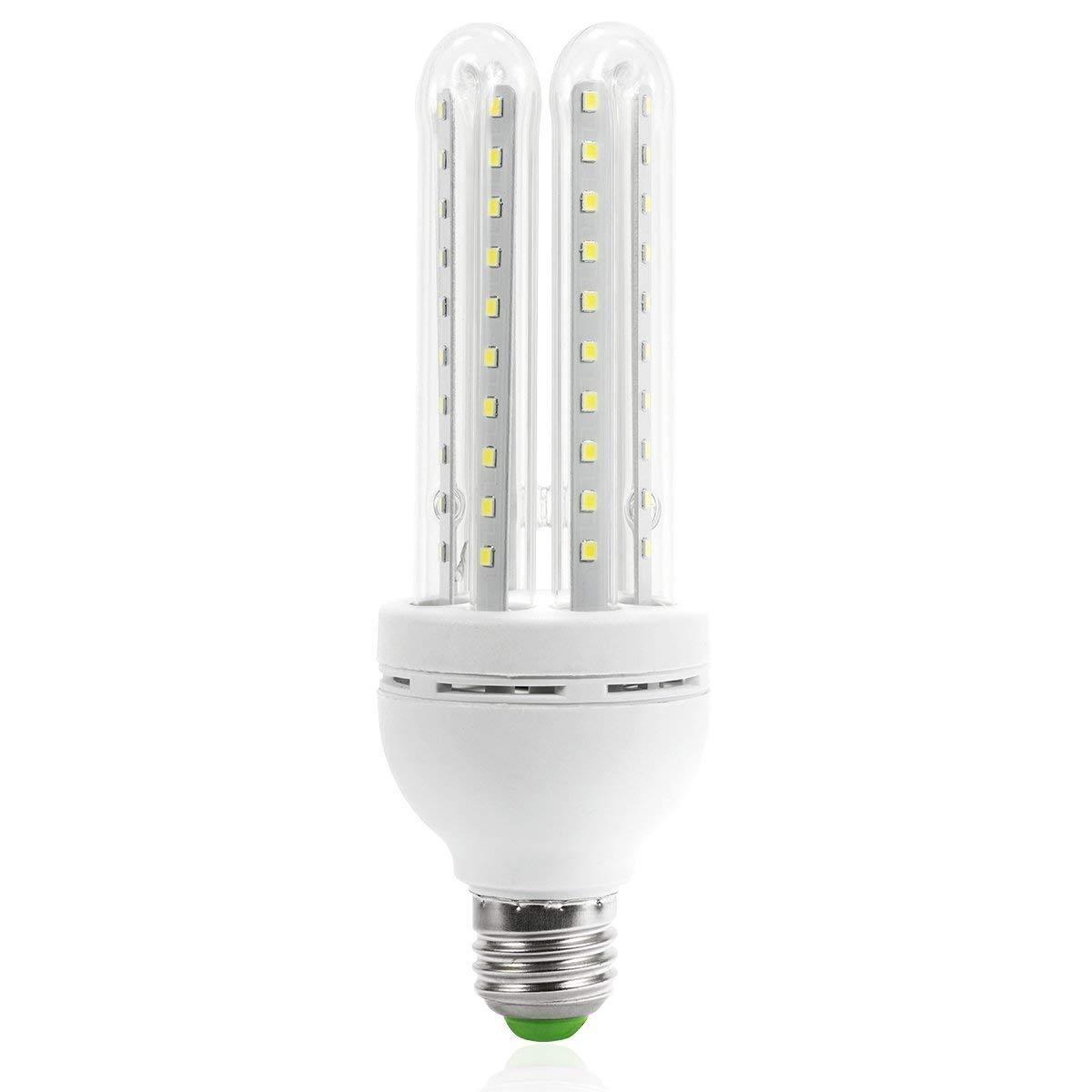 JKLcom 16W E27 LED Light Bulb LED Corn Light Bulbs 16W Corn Light Bulb E27/E26 Medium Screw Base light for Indoor Outdoor,4U,85-265V,80 LED 2835 SMD,Not-Dimmable,Cool White 6000K