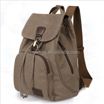 vintage canvas school shoulder backpack bag ccce717d8814d