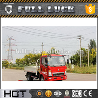 Sinotruk HOWO 3 tons mini pickup truck crane with cable winch