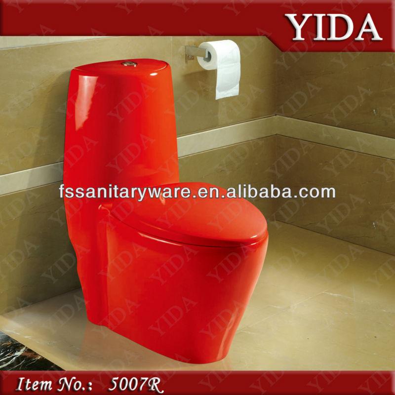 Taza del inodoro inodoro de color rojo y de color de ba o for Porcelana sanitaria