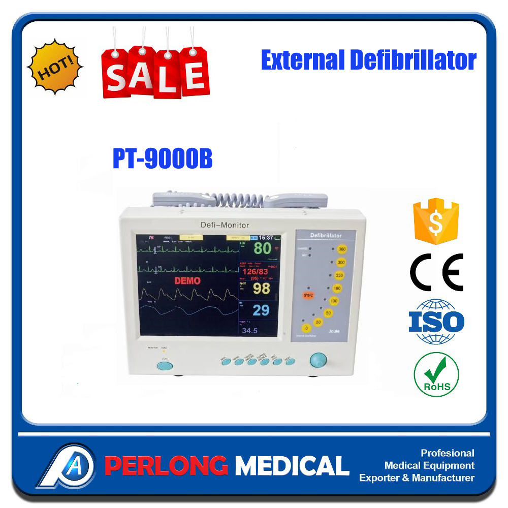 PERLONG MEDICAL PT-9000B AED Plus Package with Defibrillator Batteries