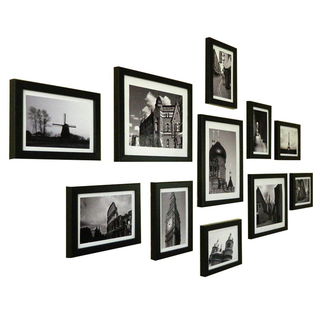 KTYX Photo Wall Living Room Bedroom Photo Wall Creative Combination Photo Wall Hanging Wall Simple Modern Photo Frame Wall Photo Wall 11 Pieces (14776CM) Art picture frame (Color : A)