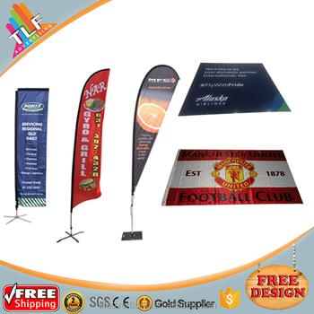 free design various types outdoor advertising custom flag printing