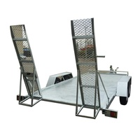 Cargo hauler trailers for small car transport