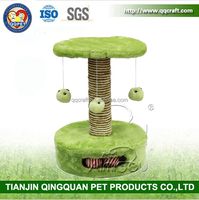 BSCI Pet Factory Small Cat Tree,Tiny Cat Platform,Plush Mouse Cat Toy