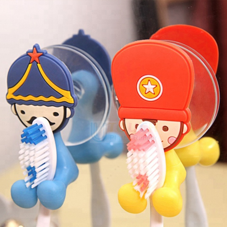 Wholesale Best Selling Products Wall Mounted Cartoon Silicone Kids Toothbrush Holder, Customized color