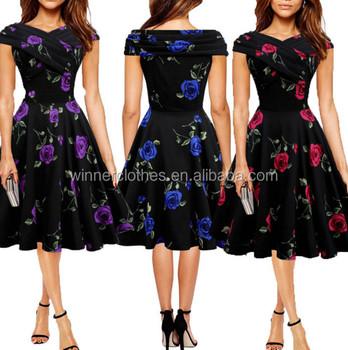 Women S 50s 60s Retro Rockabilly Tail Party Dress Vintage Audrey Hepburn Dresses