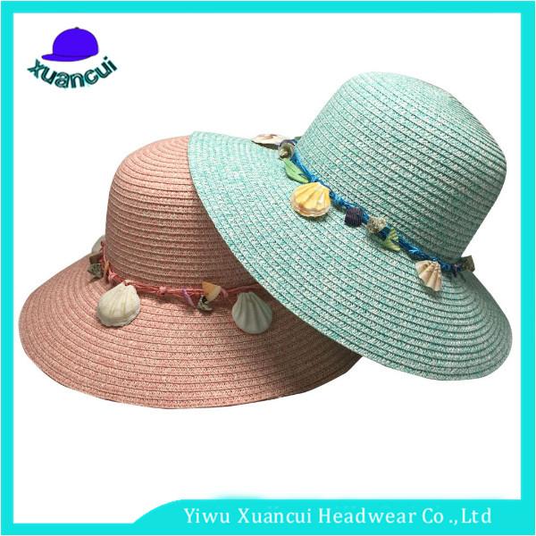 Atacado Verão floppy Chapéu de Sol chapéu de Palha Chapéu de Praia Sombra  Em Branco Personalizado 04ee2941dfe