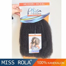 Kanekalon wholesale crochet hair extension, kinky twist synthetic afro twist braid for hair extension