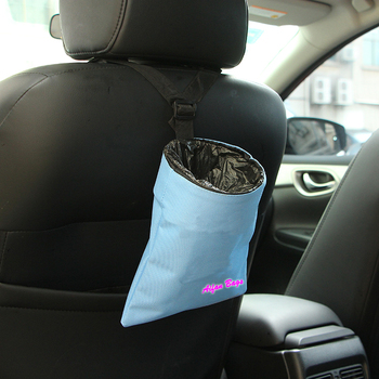 Car Vehicle Back Seat Headrest Universal Traveling Portable Car Garbage Can Bag