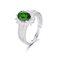moldavite engagement ring with green center stone 925 silver jewelry russia diopside jewelry