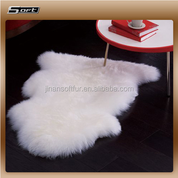 Textiles Leather Products Soft New Zealand Fleece Natural White Sheepskin Rug