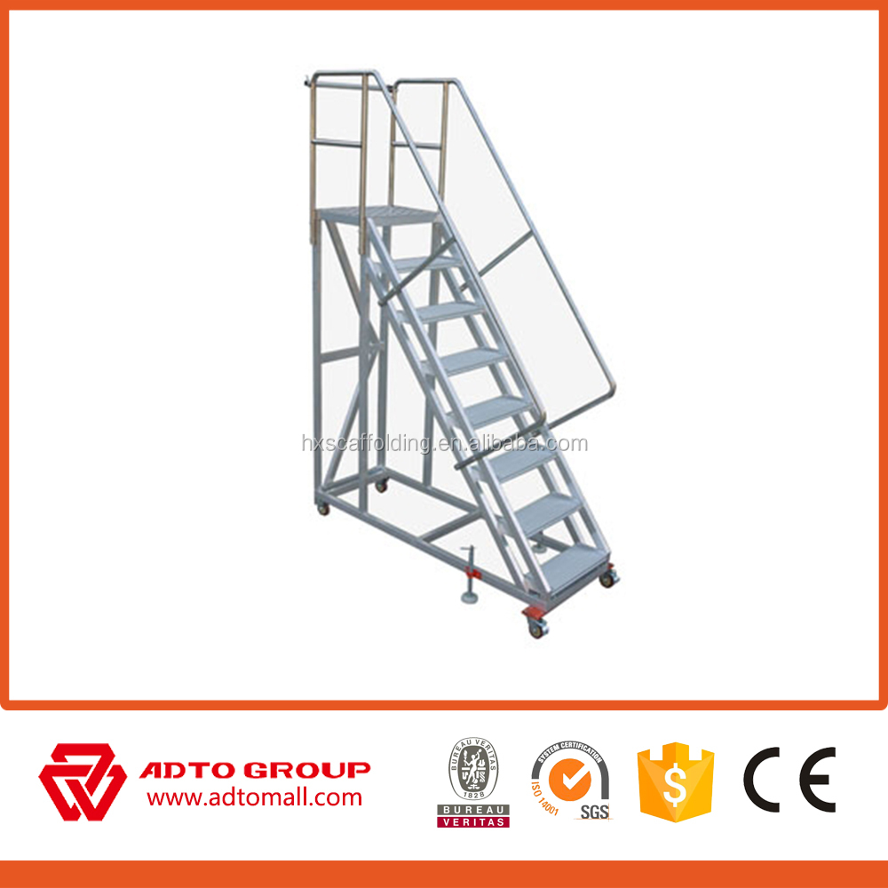 Portable Aluminum Stairs,Movable Aluminum Stair,Mobile Platform Ladder    Buy Portable Aluminum Stairs,Movable Aluminum Stair,Mobile Platform Ladder  Product ...