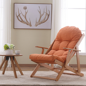 Living room padded seats lounge chairs folding wood furniture