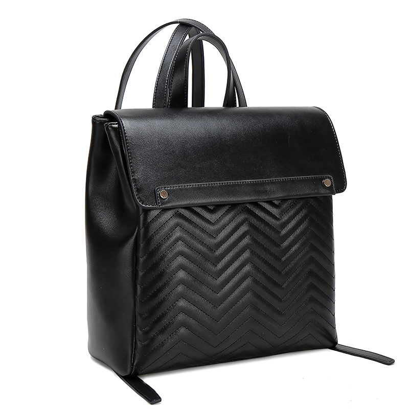 Wholesale  china high quality  daily black  leather backpack women leather bags
