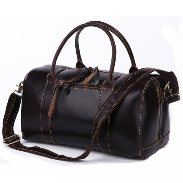 Wholesale 7165Q Genuine Leather Duffle Travel Bag Luggage Bag ...