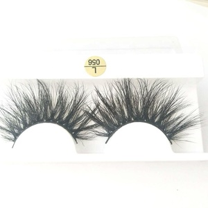 new style hand made whispy lashes 100%real mink fur eyelash customised package 28mm long 5d mink eyelash with free sample