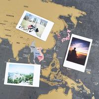 Capital Travel World Map/ Scratch World Map/Delux Scratch World Map Customize Welcomed,Deluxe Edition Personalised World Map