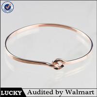 14K Rose Gold Plated Bangle India Silver Cuff Bracelet