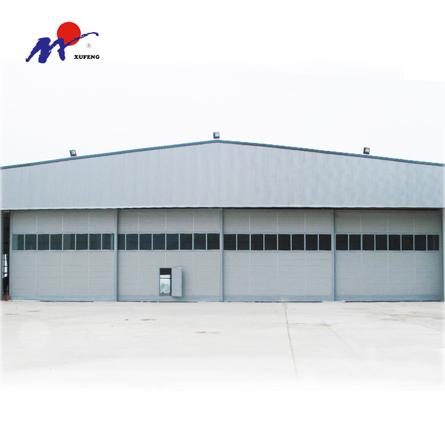 Customized Automatic side revolving sliding aircraft hanger door