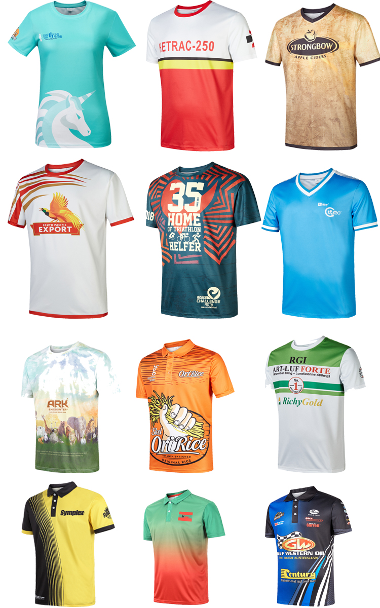 High quality Customized Logo promotional gift sport events t-shirt sublimation