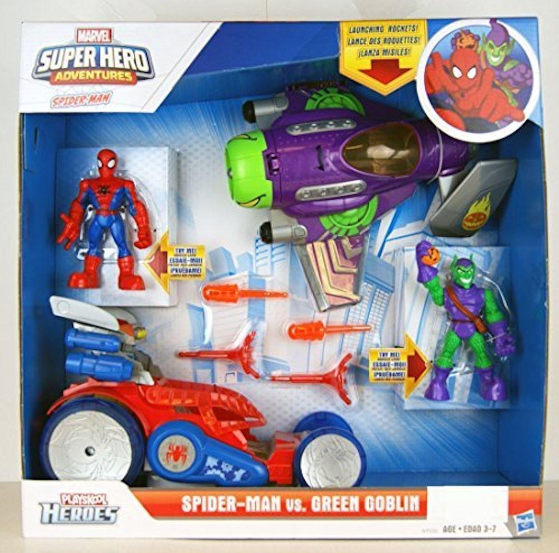 Playskool Marvel Super Hero Adventures BLUE ELECTRO Spider-Man villain Hasbro
