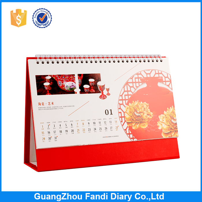 Top class quality 2017 table calendar/wholesale dairy desk calendar printing