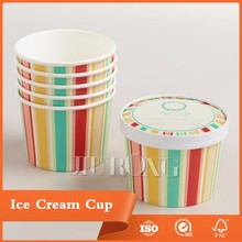 Raw Paper material Ice Cream Round Tub With Paper Lid