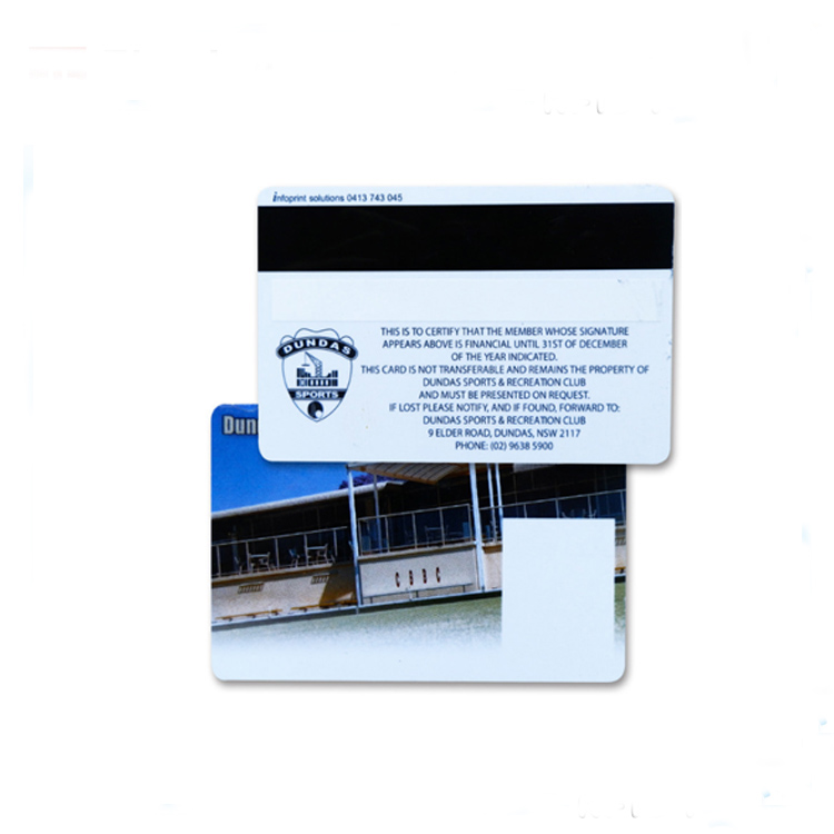 Nice Printing Standard CR80 Size PVC Plastic Magnetic Strip Card