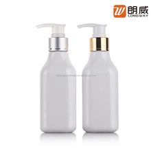 200ml Plastic PET White Bottle with Golden Pump for Skincare Packaging Lotion Shampoo Bottle with Cute Bottle Shape