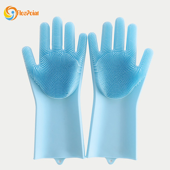 2019 Newest Silicone Washing Glove Cleaning Brush Scrubber Gloves Magic Silicone Glove