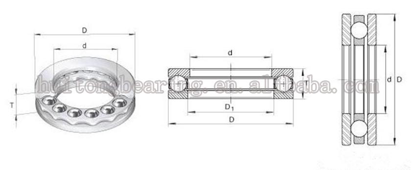 51103 KG Single thrust Bearing 17x30x9mm 17mm Shaft