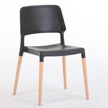 Factory wholesale simple design cheap plastic dining chair high quality wood chair