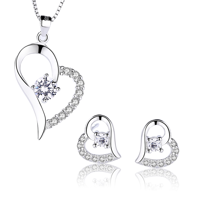 wholesale nickel and lead free jewelry set silver